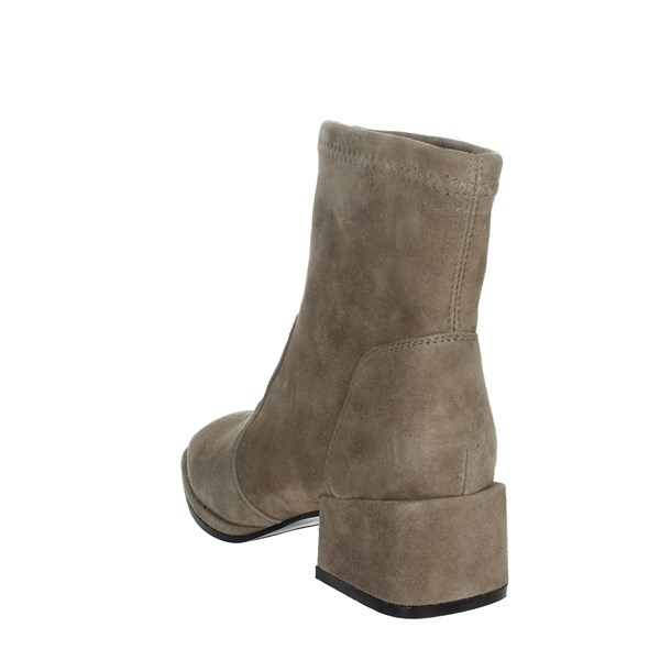 Nina Capri Shoes Ankle Boots Brown Taupe IC-144