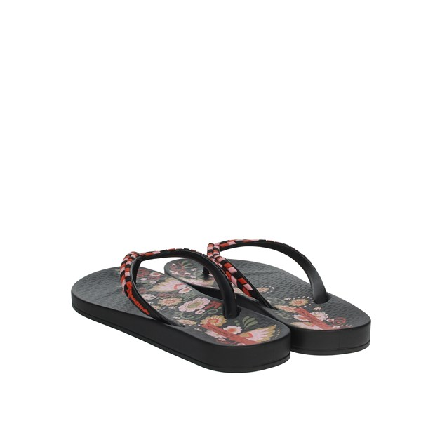 Ipanema Shoes Flip Flops Black/Red 82769