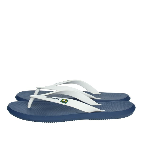 Rider Shoes Flip Flops White/Blue 10594