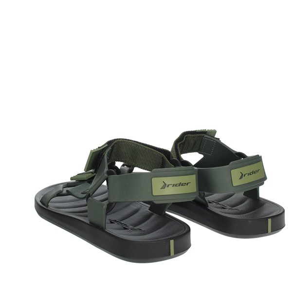 Rider Shoes Sandal Black/Dark Green 11567