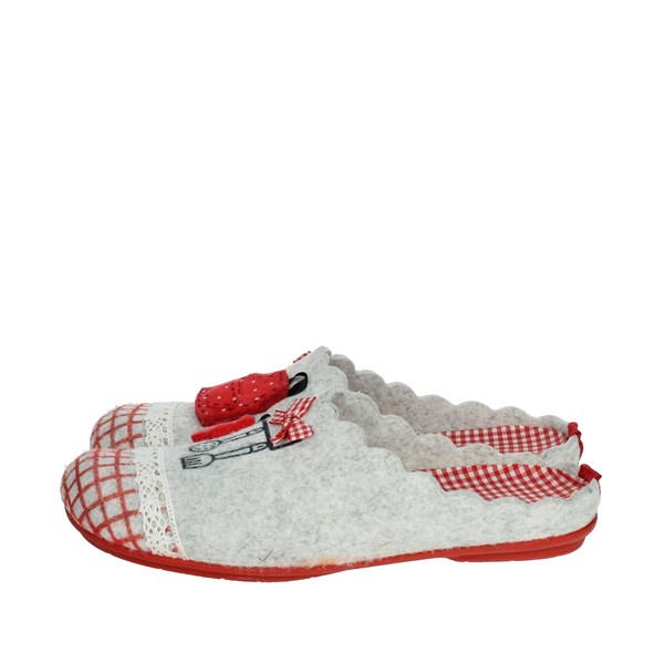 Riposella Shoes Clogs Grey/Red P-369