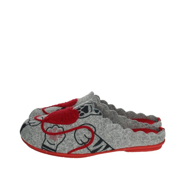 Riposella Shoes Clogs Grey/Red P-387