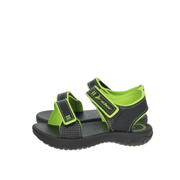 Rider Shoes Sandal Black/Green 82815