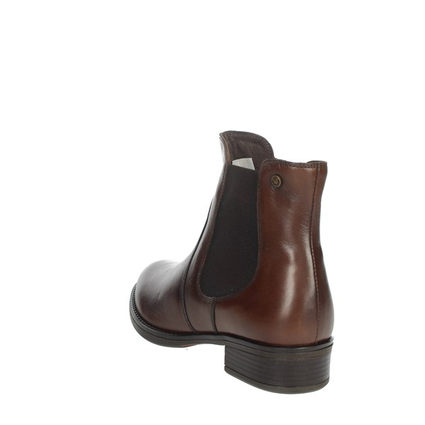 Riposella Shoes Ankle Boots Brown leather IC-201