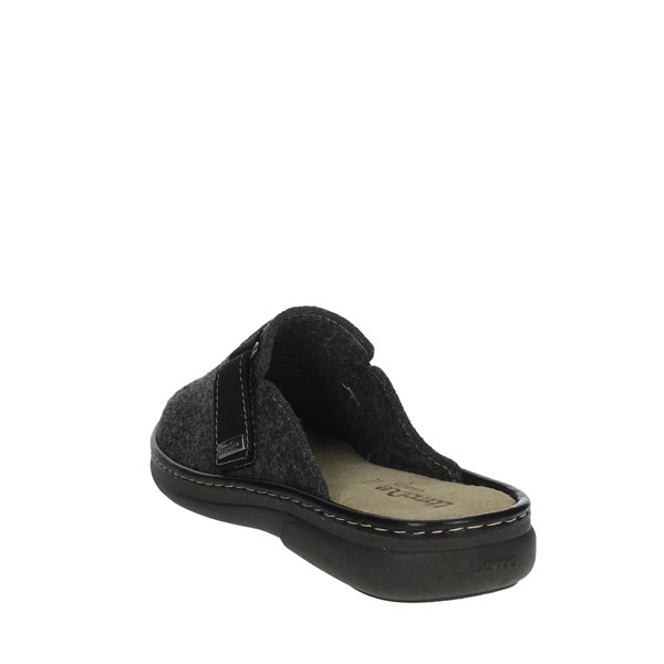 Uomodue Shoes Clogs Charcoal grey STRAPPO CUCITO-10