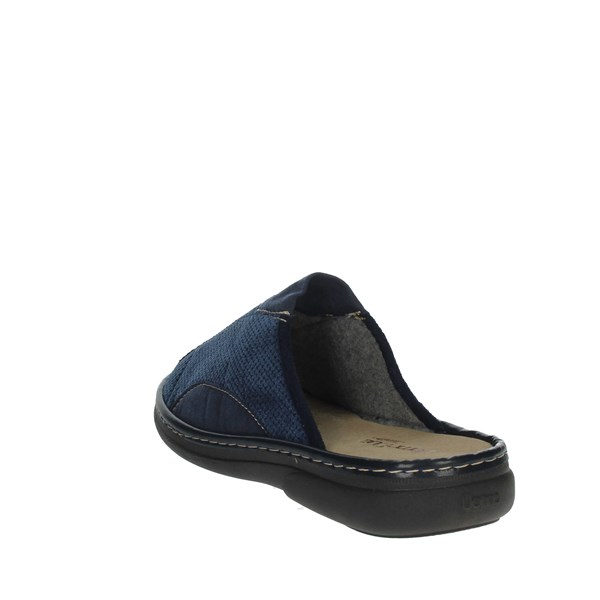 Uomodue Shoes Clogs Blue MICRO PANNO-63