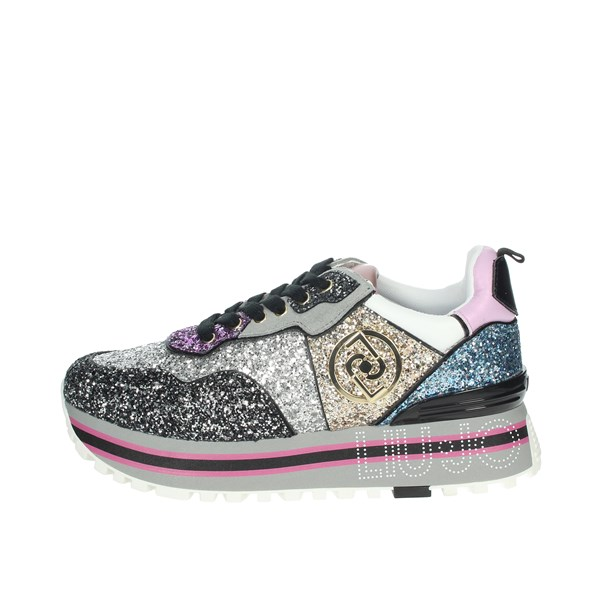 Liu-jo Shoes Sneakers Black/Silver MAXI WONDER