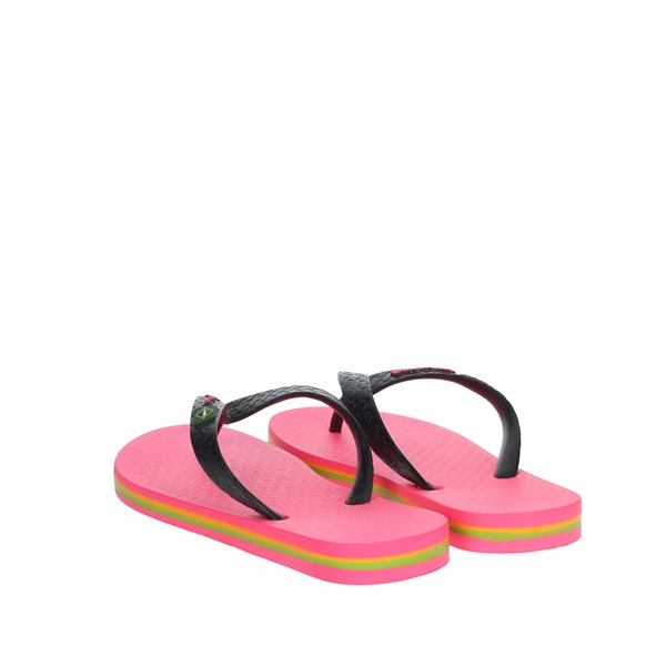 Ipanema Shoes Flip Flops Black/Fuchsia 80416