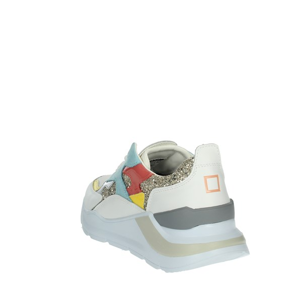 D.a.t.e. Shoes Sneakers White FUGA GLITTER
