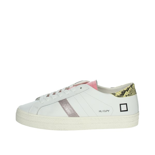 D.a.t.e. Shoes Sneakers White/Pink HILL LOW CALF