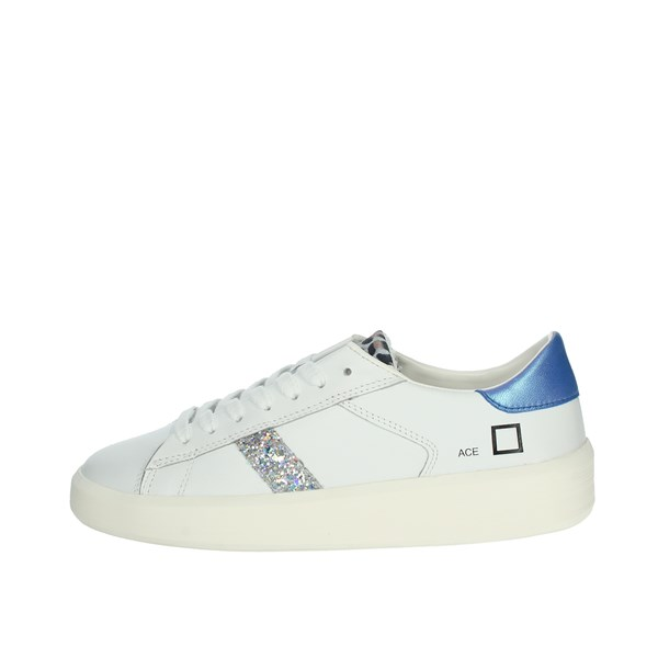 D.a.t.e. Shoes Sneakers White/Light-blue ACE ANIMALER
