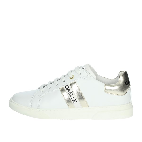 Gaelle Paris Shoes Sneakers White/Gold G-622