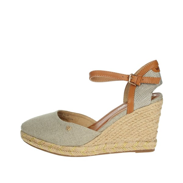 Wrangler Shoes Espadrilles Brown Taupe WL11610A