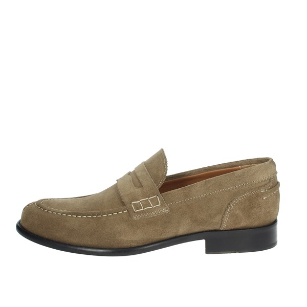 Gino Tagli Shoes Moccasin Brown Taupe 652