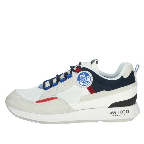 North Sails Shoes Sneakers White/Blue RW-03 RECY
