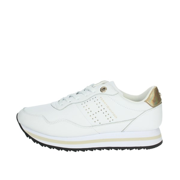 Tommy Hilfiger Shoes Sneakers White/Gold FW0FW05557