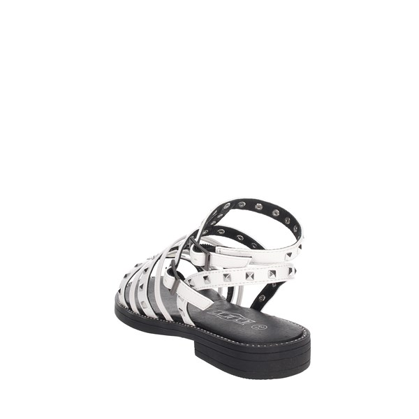 Cult Shoes Sandal White RED-3