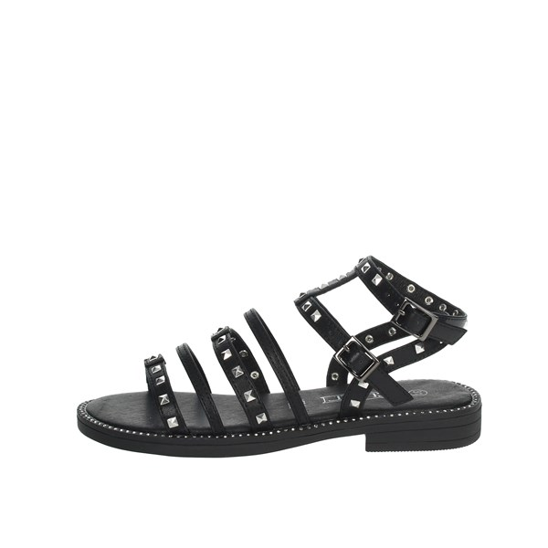 Cult Shoes Sandal Black RED-4