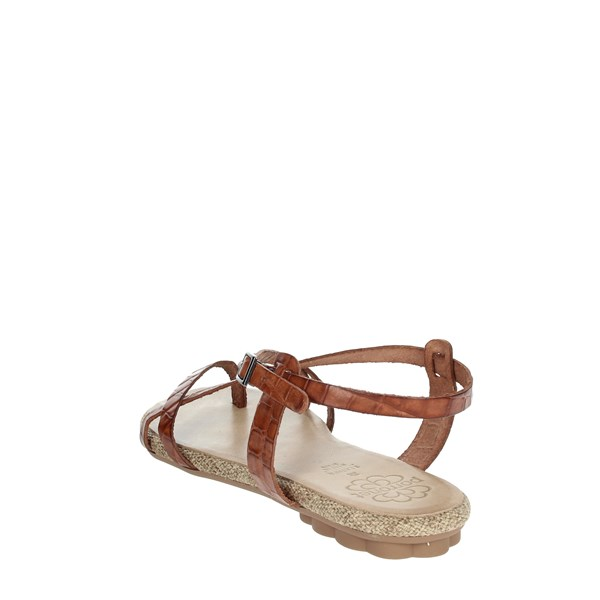 Porronet Shoes Flip Flops Brown leather FI2602