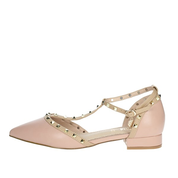 Gold & Gold Shoes Ballet Flats Light dusty pink GP50