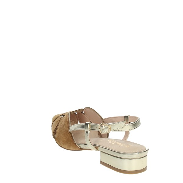 Gold & Gold Shoes Ballet Flats Brown leather GP83