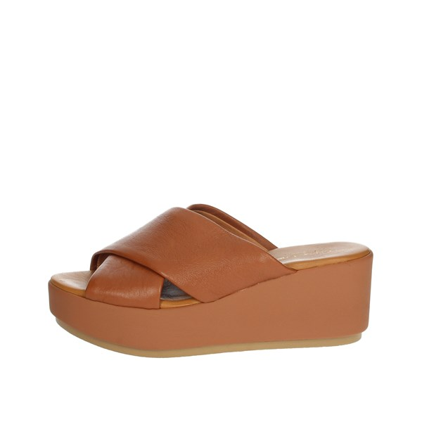 Elisa Conte Shoes Clogs Brown leather MYA