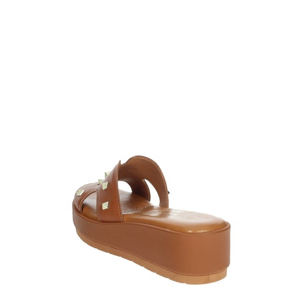 Elisa Conte Shoes Clogs Brown leather M39