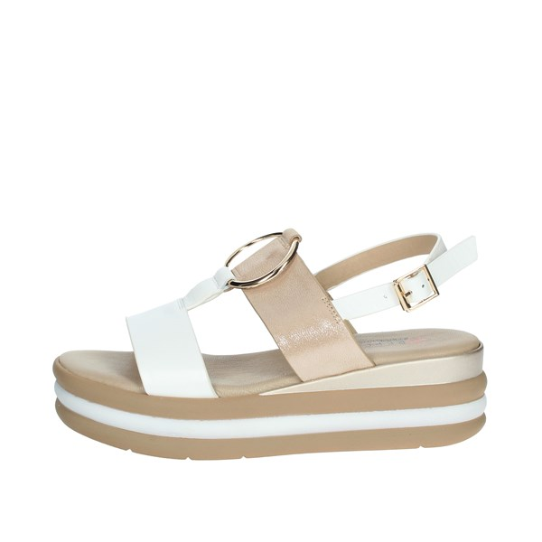 Repo Shoes Sandal White/Gold 12290-E1