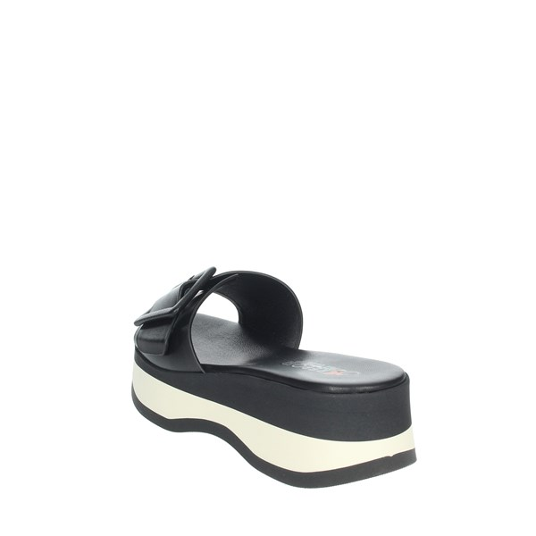 Repo Shoes Clogs Black/White 62114-E1