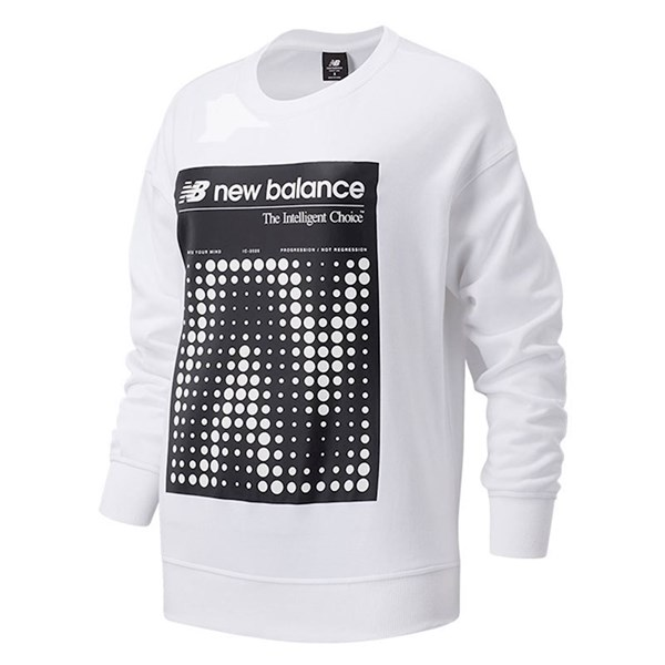 New Balance Clothing Sweatshirt White WT03524