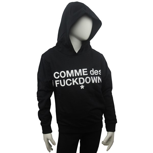 Comme Des F**kdown Clothing Sweatshirt Black MFCDF9304J