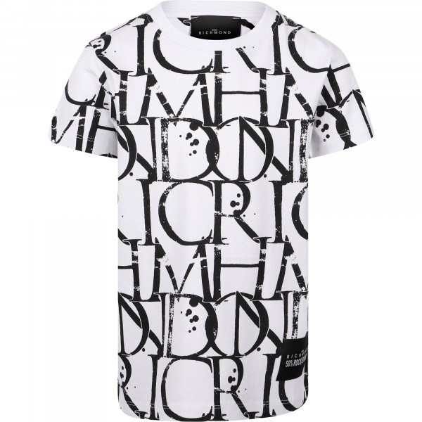 Richmond Clothing T-shirt White/Black RBP21039