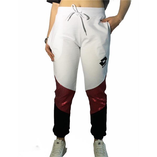 Lotto Clothing Pants White/Fuchsia LTD447