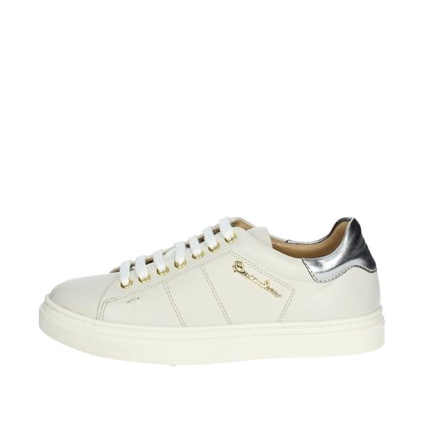 sale retailer a57a4 b4f88 Braccialini Sneakers Bassa Donna BIANCO/ARGENTO   Shoes Point