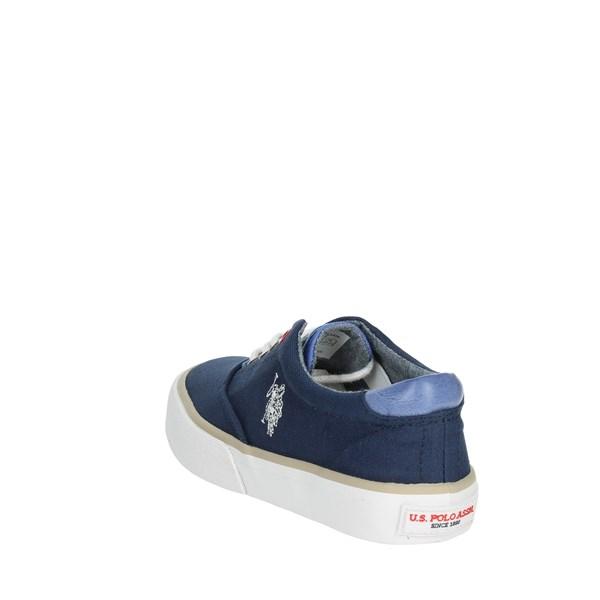 Sneakers blu con stringhe per bambini u.s polo assn. nfdWftEIu