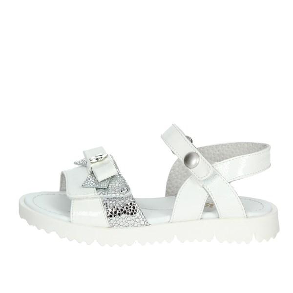 Bambina Sandalo Bianco Viviane argento