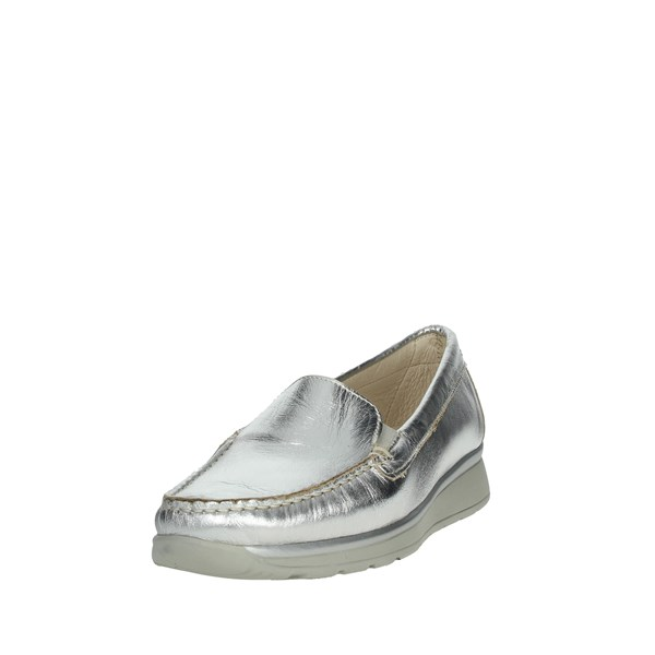 Cinzia Soft Shoes Moccasin Silver IA810VL